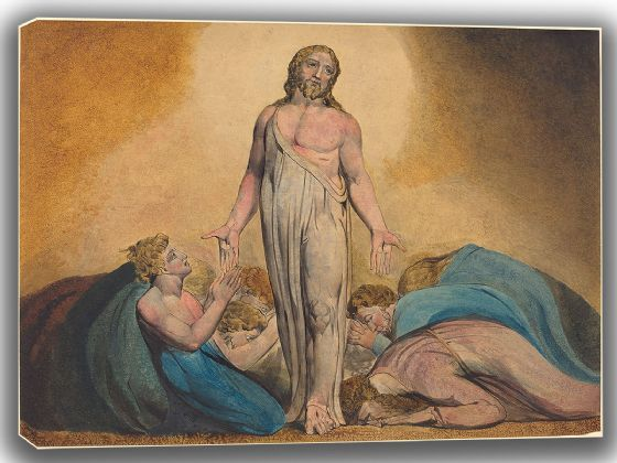 Blake, William: Christ Appearing to His Disciples After the Resurrection. Fine Art Canvas. Sizes: A4/A3/A2/A1 (003552)